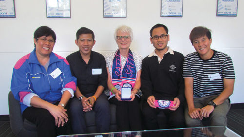 Representatives of International Student Program with Brighton Secondary School principal