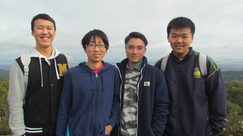 4 students from the International Student Program at Brighton Secondary School
