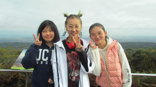 3 students from the International Student Program at Brighton Secondary School
