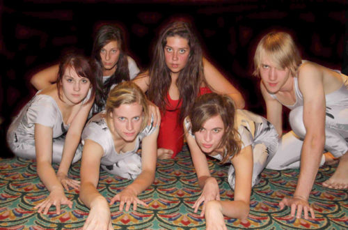 Group of 6 students from Lift Theatre