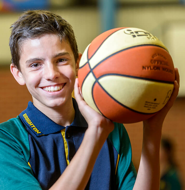 Brighton Secondary School Basketball Student