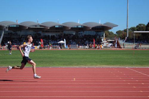 School Sports student running