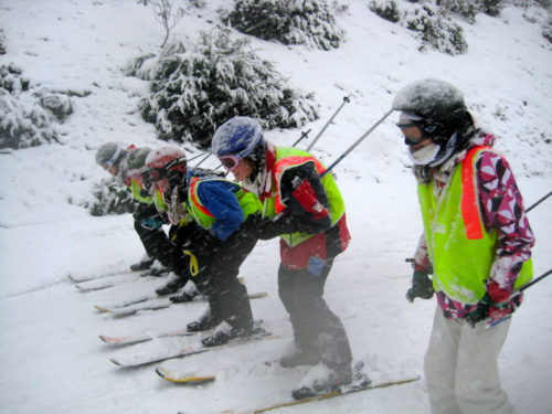 Students on Ski Trip