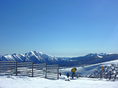 Ski Trip snow covered hills scenic view