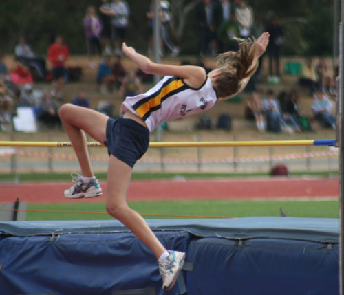 School Sports Students High Jump