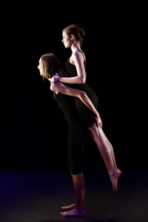 2 students dancing in Silence of Nothing for Lift Dance Theatre